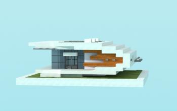 16x16 modern house 4