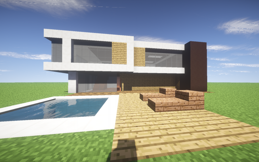 Silence | modern house – minecraft house design.