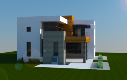 Simple modern house creation 6000 for Modern house schematic