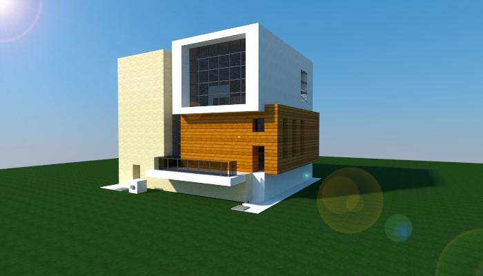 16x16 Modern Redstone House Creation 6009
