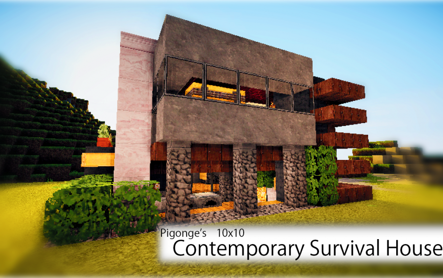 Minecraft survival house schematics excellent minecraft for Minecraft big modern house schematic