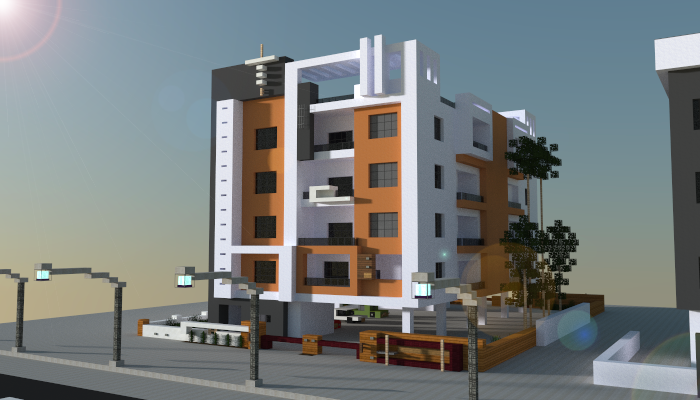 Modern Apartment Building, creation #6089