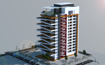 Large Modern Apartment Building