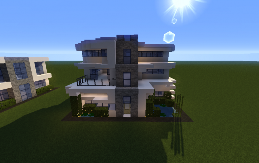 15 x 15 modern house 2 creation 6136 for Minecraft big modern house schematic