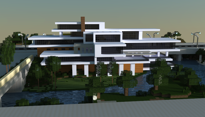 Modern mansion creation 6282 for Modern house mc