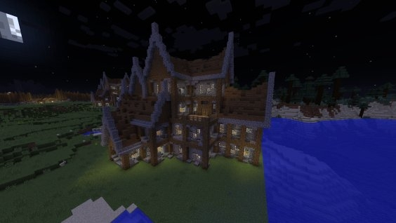 rustic mansionlarge house creation 6416