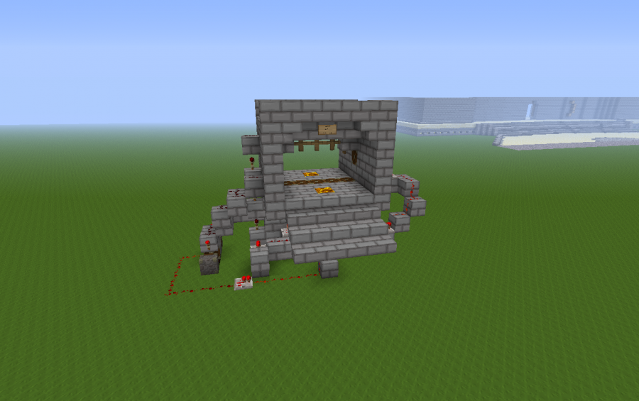 System redstone door (5 by 3 pistons) & System redstone door (5 by 3 pistons) creation #643