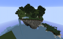 Sky Island with survival house