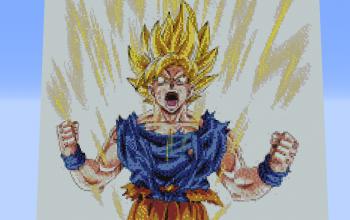 Goku Pixelart