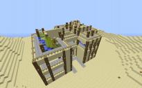 huge sandstone house