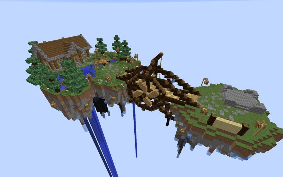 Sky Island Minigame Waiting LobbySpawn Creation 6630