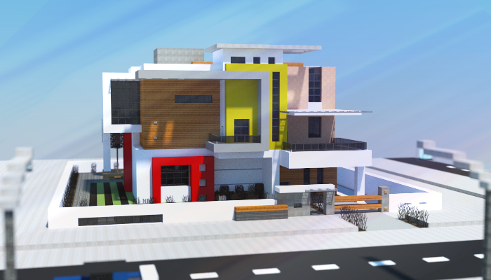 Modern house creation 6758 for Modernes redstone haus