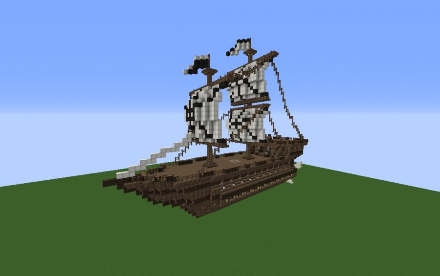 minecraft flying boat