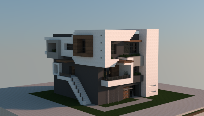 Minecraft schematics house modern house plan 2017 for Modern house schematic