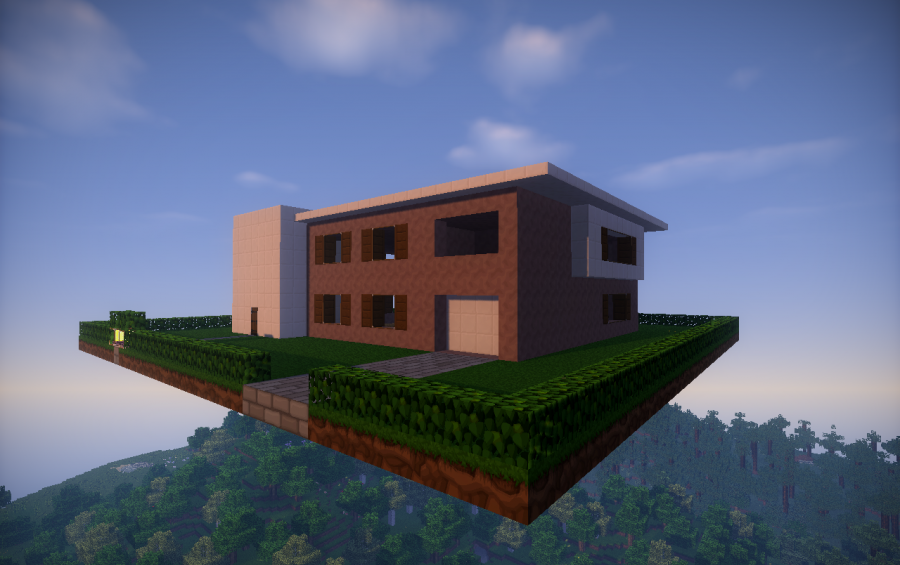 simple modern house unfurnished