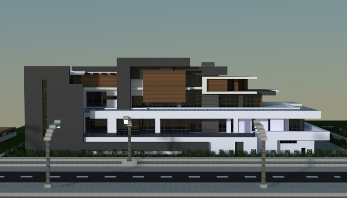 Large modern house creation 7129 for Huge modern mansion