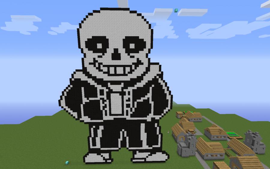 minecraft how to build ice lion pixel art