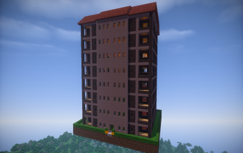 Gray Apartment Building (furnished)