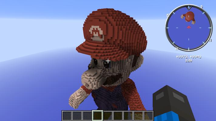 Super Mario 3D Statue