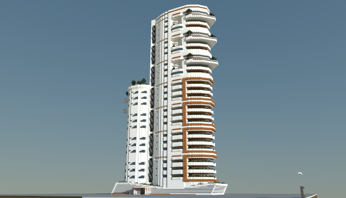 Modern Apartment Building