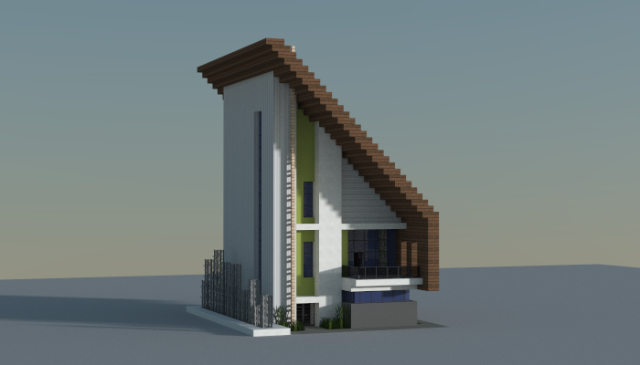 . Small modern house  creation  7545