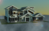 Traditional modern house