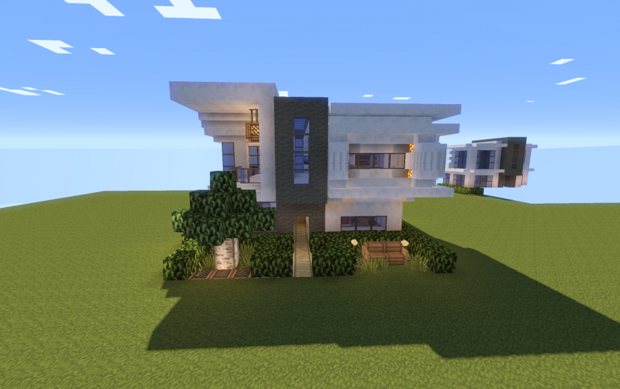16x16 modern house fully furnished creation 7805 for Modern house schematic