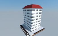 8-story apartment