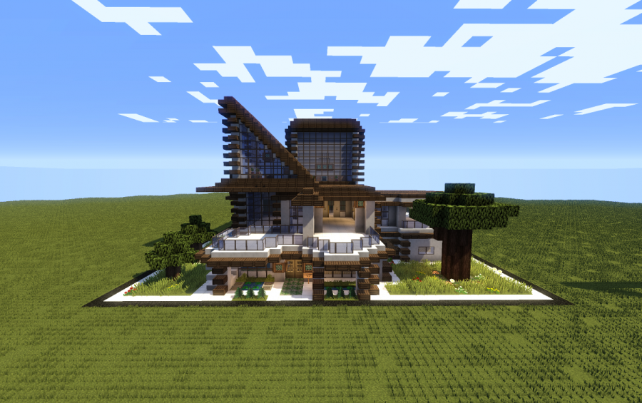 Modern Dark Oak House Creation 7856