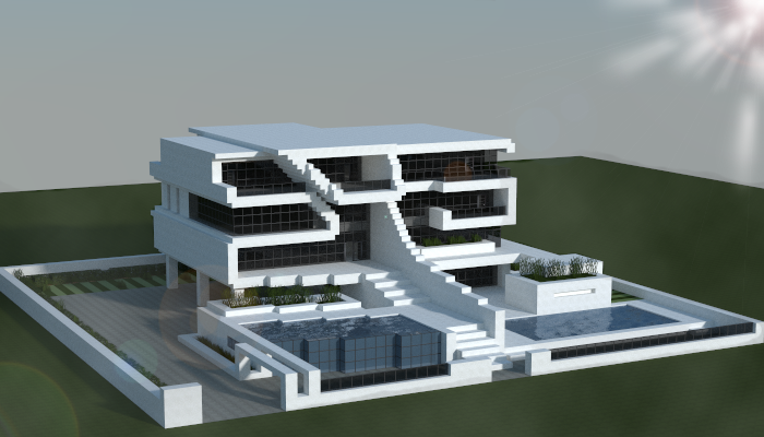 Large Modern House Creation 7870
