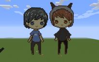 Dan and Phil Pixel Art