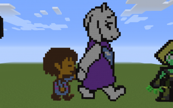 Frisk and Toriel Pixel Art