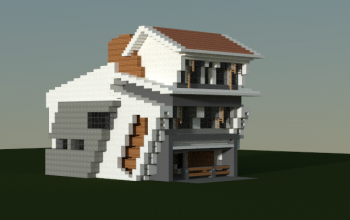Leaning house