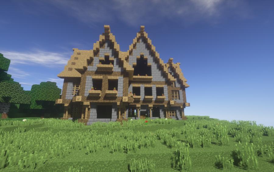 Medium sized medieval house creation 7944 for Medium houses