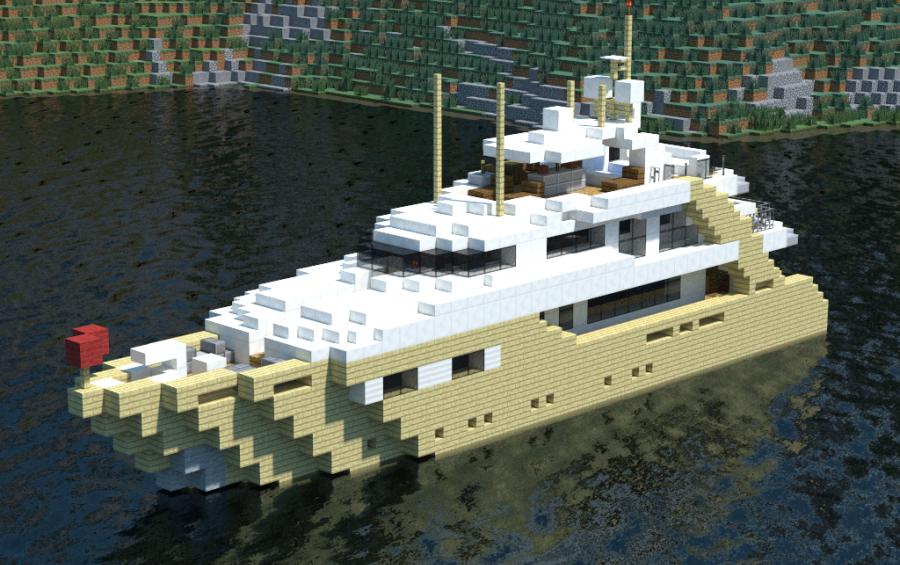 Alexandar V Luxury Yacht, creation #7993 on small boats mod minecraft, small minecraft village, small minecraft ship plans, small minecraft yacht tutorial,