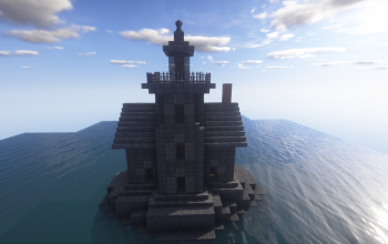 Stone lighthouse - (with working fireplace)