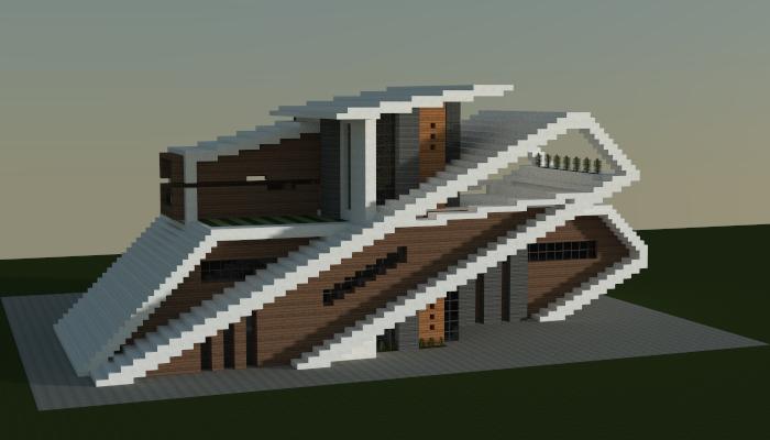 Minecraft Modern House Schematic Download   Architectural Design on