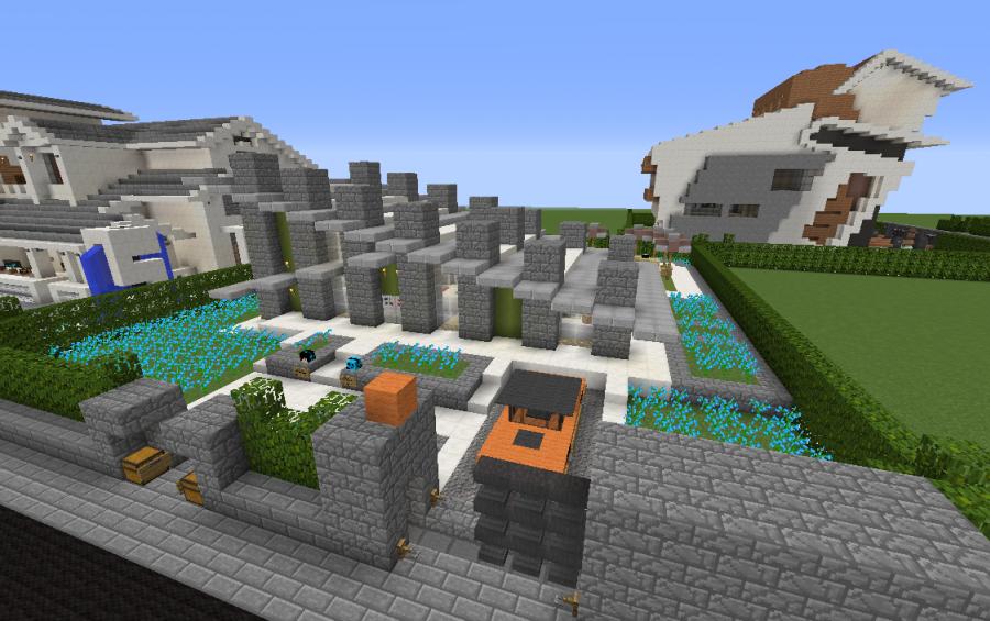 Modern villa 1 schematic creation 8062 for Modernes redstone haus