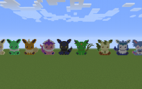 Shiny Eeveelutions Pixel Art