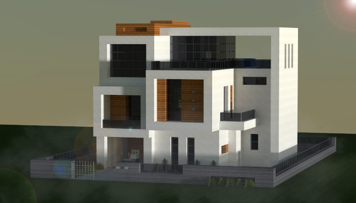 . Small modern house  creation  8308