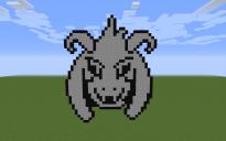 Asriel Dreemurr Head Pixel Art