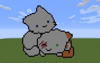 Cloudtail and Brightheart Pixel Art