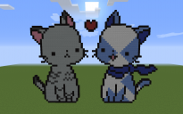 OCs Twistedleaf and Frosttail Pixel Art