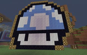 Super Mario Blue Mushroom