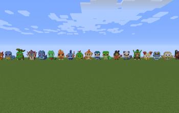 All Pokemon Starters 2D