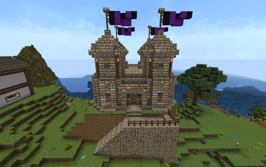 Small castle house plans minecraft for Small castle house