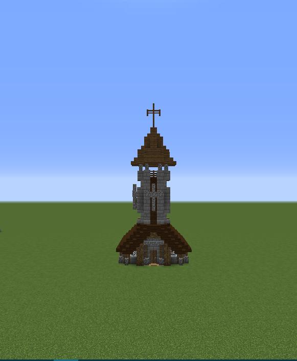 Medieval Village Church Creation 8438
