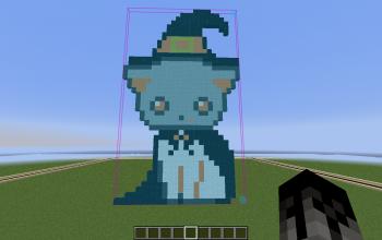 Halloween Cat Pixel Art