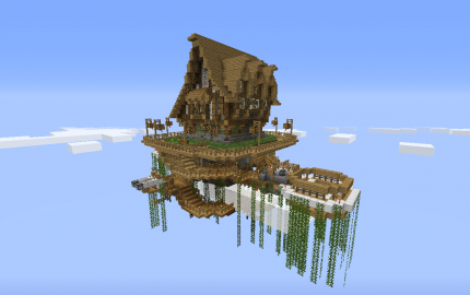 House in a floating island creation 851