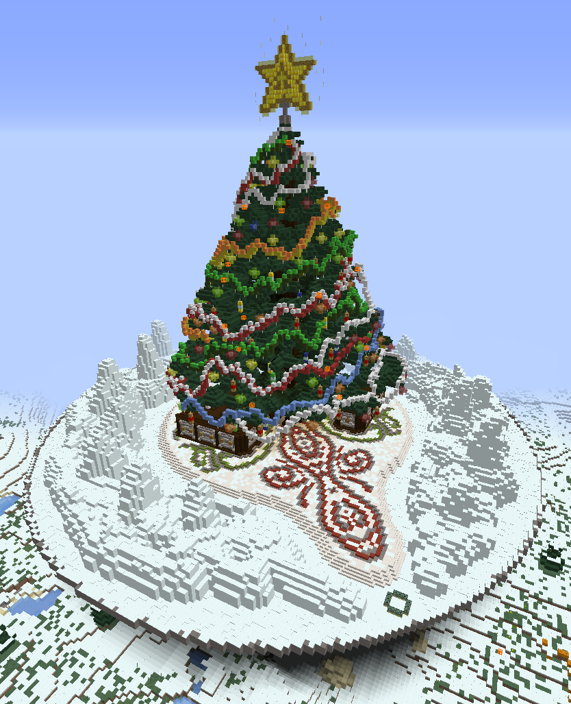 Minecraft Christmas.Christmas Spawn Creation 8533